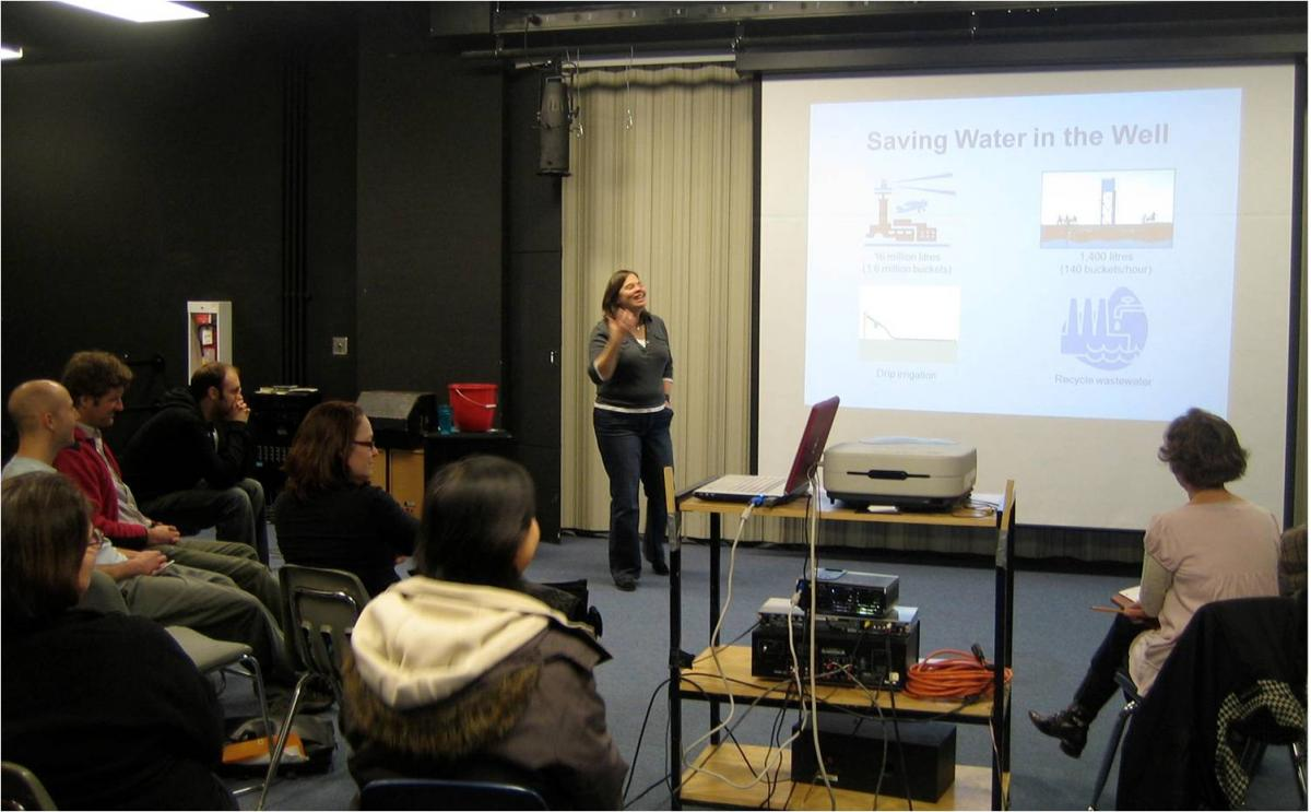 Author Rochelle Strauss' water workshop